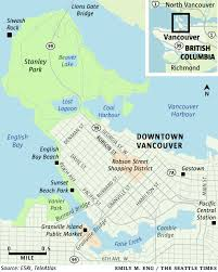Seattle On A Map by A First Timer U0027s Fresh View Of Vancouver B C The Seattle Times