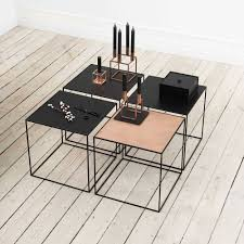 Copper Dining Room Table By Lassen Twin Black Side Table Black Copper Scandinavian Design