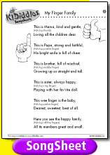 my finger family song and lyrics from kididdles