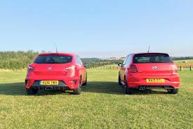 volkswagen polo 2016 black twin test review vw polo gti vs seat ibiza cupra black