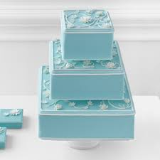 wedding cakes ideas lovely blue wedding cake boxes combined with