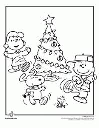 Charlie Brown And Christmas Tree - a charlie brown christmas coloring pages woo jr kids activities