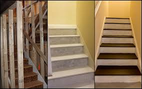 how to make the stairs to unfinished basement look good before you