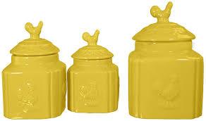 amazon com home essentials u0026 beyond 21055 turino canister canary