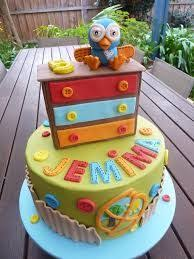 Giggle And Hoot Decorations Chocolate Mud Bottom Layer Square Cake And White Mud Number 1 With