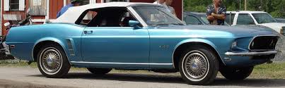 the with the blue mustang 1969 ford mustang convertible blue side angle