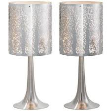bedroom table ls set of 2 possini euro 19 high laser cut chrome table ls set of 2 table