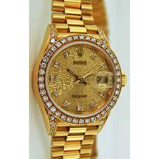 golden rolex rolex gold watch presidential gold watch diamantbilds
