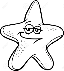 printable 36 cute starfish coloring pages 5214 black and white