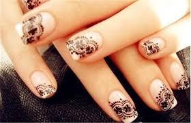 4pcs lot 3d lace nail art design nail stickers black white