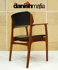 mid century danish modern teak erik buck 6 dining chair set eames