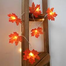 maple leaf garland with lights 4m13ft maple fairy led string lightautumn fall lighting garland