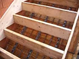 treppe betonieren einschalen der stiege massivhaus