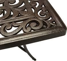 cast aluminum dining table strathwood st thomas cast aluminum rectangular patio table patio