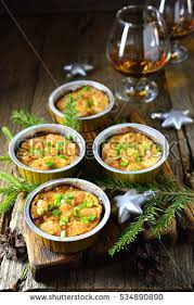 appetizer baked proportion on wooden stock photo