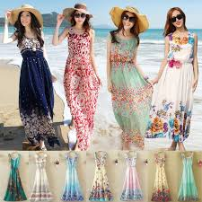 summer maxi dresses summer style floral print maxi dresses women casual dress