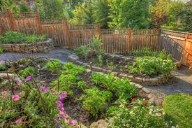 raised stone vegetable garden landscape traditional with rock wall