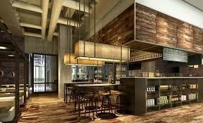modern restaurant interior brick walls wooden decor 2012 3d model