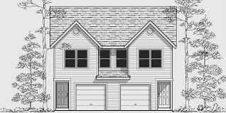 Duplex House Plans For Narrow Lots Narrow Lot Duplex House Plans 16 Ft Wide Row House Plans D 430