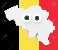 Belgian Flag Cartoon Country Map Belgium With Big Eyes Belgian Flag In