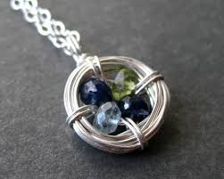 mothers pendants with birthstones family birthstone necklace iwajewelry