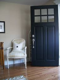Front Door Painted by Benjamin Moore U0027s Aura Exterior In Black Low Lustre Ideas