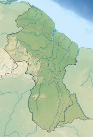 Guyana Map Large Relief Map Of Guyana Guyana South America Mapsland