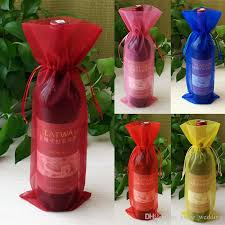wine bottle gift bags 14 37cm sheer organza wine bottle cover wrap gift bags pouch bag