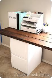 Diy Desk With File Cabinets File Cabinet Design White Desk With File Cabinet Diy Desk You