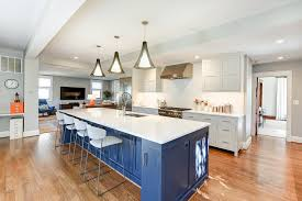 gray kitchen cabinets blue island bohemian bungalow arlington virginia liza ryner design
