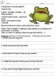 first grade reading comprehension passages by little tots learning