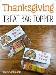thanksgiving treat bag topper prekinders