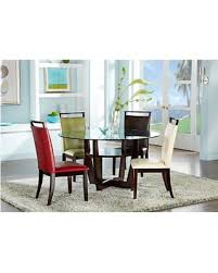 Espresso Dining Room Furniture Spectacular Deal On Ciara Espresso 5 Pc Dining Set With Green Chairs