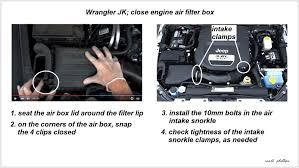 jeep wrangler jk 2007 to 2015 how to replace air filter jk forum