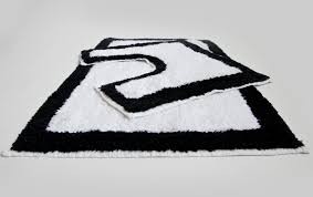 black and white chevron bath rug rugs ideas creative rugs