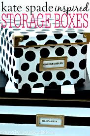 Decorative Cardboard Storage Boxes Home Organization Kate Spade Inspired Storage Boxes First Home Love Life