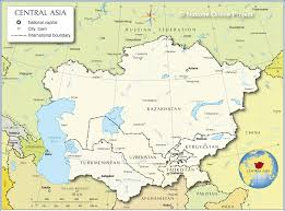 map central small map of central asia nations project