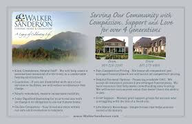 Walker Home Design Utah by Walker Sanderson Funeral Home Community Services Card Taylor