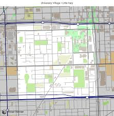 Chicago Loop Map by Map Of Building Projects Properties And Businesses In University