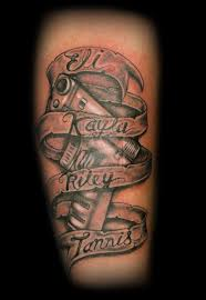 banner with gun tattoo by jacqustyle