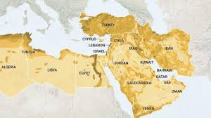 map for today s middle east has a new look about it and it is not a