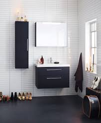 Bathroom Furniture Black Aspen Badrum Viskan Vit Svart White Black Scandinavian
