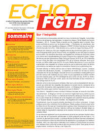 bureau du chomage bruxelles fgtb echo fgtb n 10 décembre 2017 publications