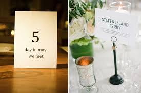 Wedding Table Number Ideas 14 Inspiring Wedding Table Name Ideas Weddingsonline
