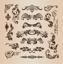 vintage design retro vintage design elements vector set free vector graphics