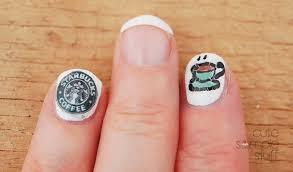 cute simple stuff monday mani starbucks coffee inspired nails 2