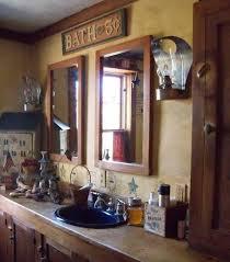 Primitive Bathroom Decor Accessories And Wall Sconces Rural