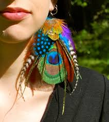 feather earrings magick peacock feather earrings