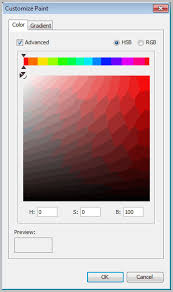 using the color picker colors and gradients
