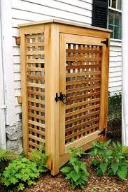 Backyard Garbage Cans by How To Build A Trash Shed Dads Backyard And Yards